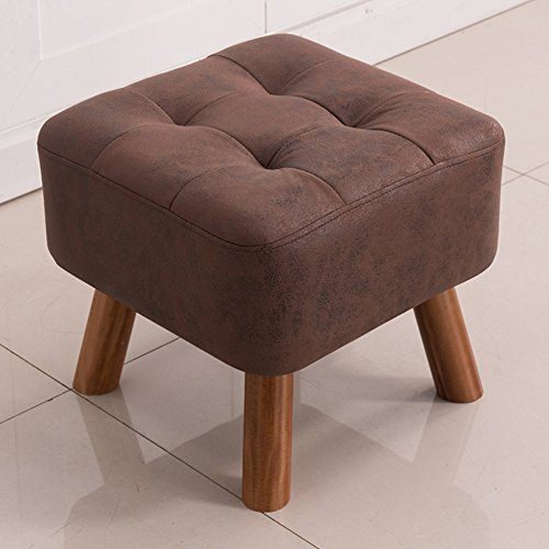 Yq whjb poggiapiedi imbottito,moderna sgabello poggiapiedi,quadrata tonda divano basso letto panca fine legno massello ottomano tavolino sedile-4 gambe in legno-e