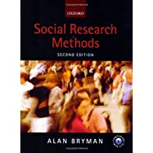 Social Research Methods by Alan Bryman (2004-04-08)