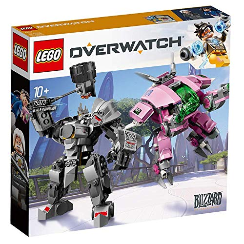 LEGO 75973 Overwatch D.Va and Reinhardt Building Kit, Multicolour Best Price and Cheapest
