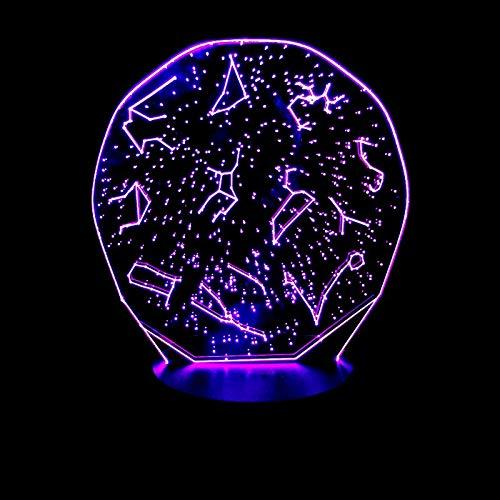 GBBCD Nachtlicht Kreative geschenke leuchtende 3d konstellation set decor vision usb schreibtischlampe lampara led 7 farben ändern baby schlafen nachtlicht - Home Visions-set Bett