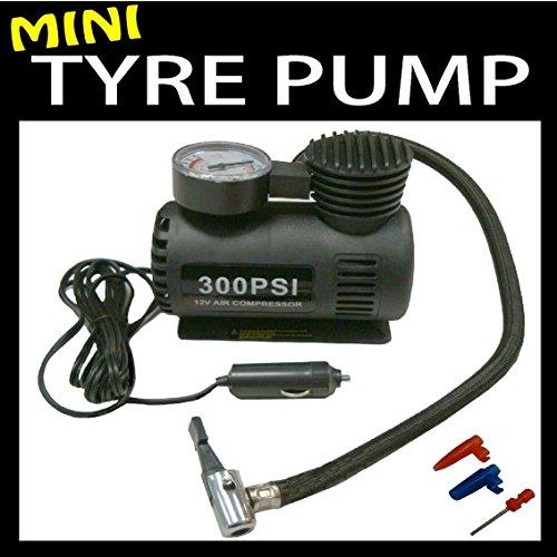 Preisvergleich Produktbild Mini-Pumpe / Luftkompressor, 300 PSI, betrieben über Zigarettenanzünder, für Auto- und Fahrradreifen / Bälle / Planschbecken / Luftbetten Das Original von Great Ideas.