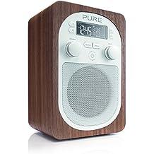 Pure Evoke D2 Radio (DAB/DAB+ Digital- und UKW-Radio mit Küchen-Timer) walnuss