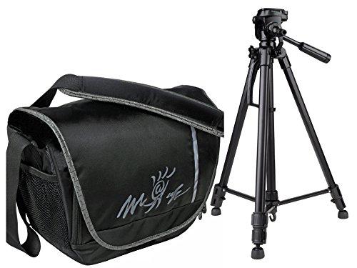 Kamera Bag Foto Tasche MIAMI inkl.Stativ mit Neigekopf und Stativtasche