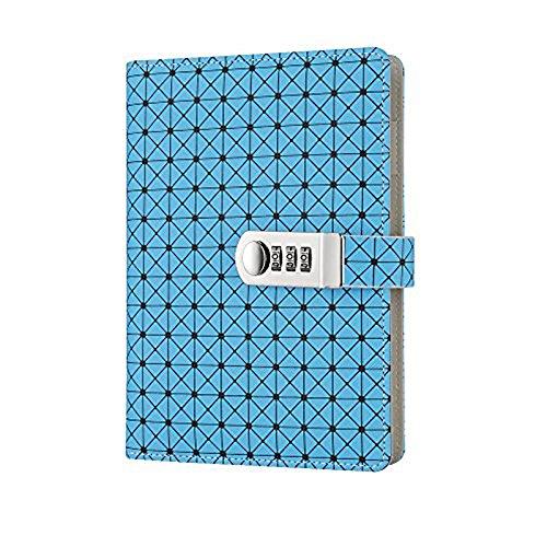 Diario de Cuero de Viajes, planificador de escritura Libreta de Viaje PU vintage Azul TPN094
