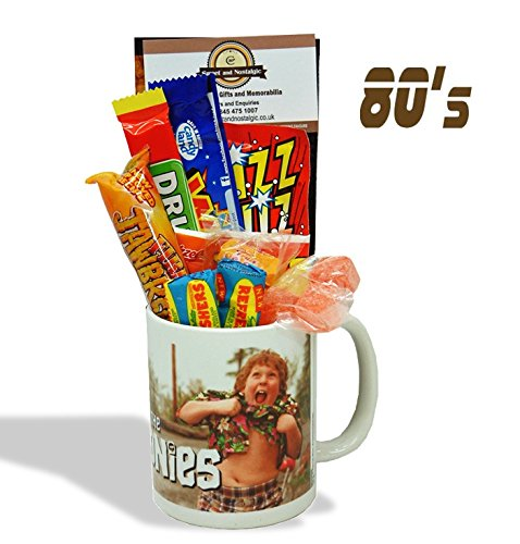 The Goonies - 'Chunk' Mug with a pirates treasure portion of 80's Retro Sweets