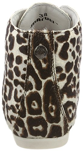 Maruti Ginny Hairon Leather, Stivali Donna Grau (Cheetah White/Black)