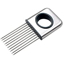 Onion Holder Tomato Slicer Best Stainless Steel Fork Slicing Help Fixed Meat Kitchen Gadgets Fruit Vegetable Potato Cooking Cutter Tools Kitchen Accessories