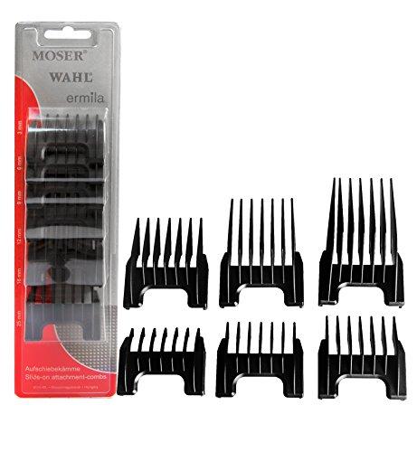 Kunststoff Aufsteckkämme für Arco/ Adelar und Bravura, schwarz - Center Cut Cutter