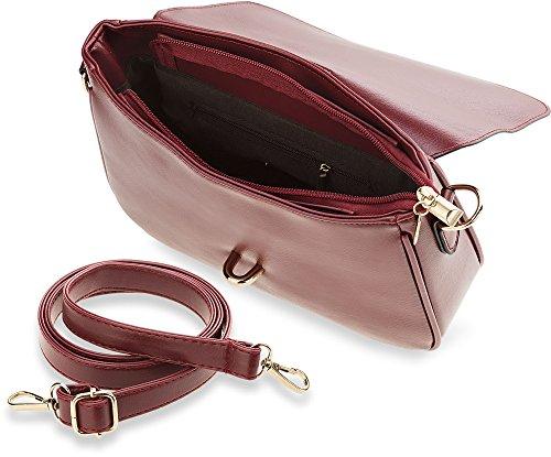 klassische Damentasche Messengertasche Umhängetasche (rot) rot