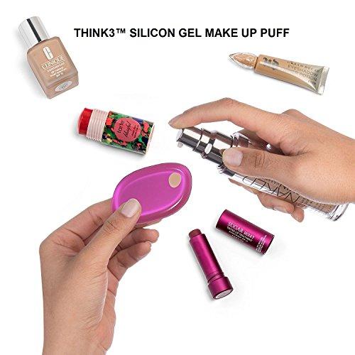 THINK3 Brand Silicone Makeup Sponge- Silisponge & Silicone Beauty Blender (PINK)
