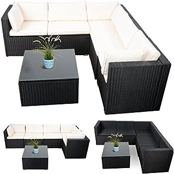 Loungemöbel outdoor günstig  Loungemöbel Rattan Gartenmöbel Lounge Ecke günstig schwarz 20tlg ...