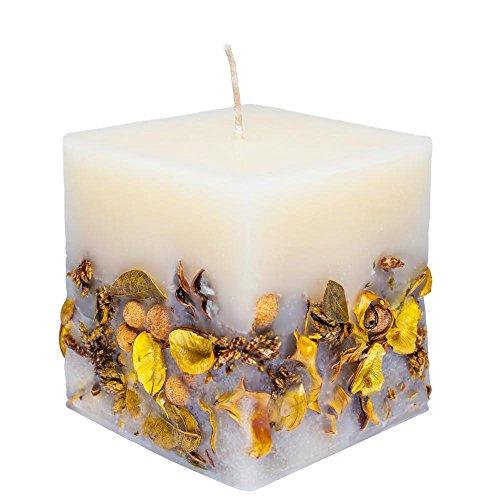 Vela aromática Aromarte, Popurrí amarillo, Yellow Candles, Cube Large