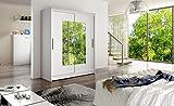 JUSTyou DorriGOU Schwebetürenschrank Kleiderschrank Garderobenschrank (HxBxT): 200x150x58 cm Farbe: Weiß