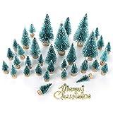 lulalula Miniatur-Weihnachtsbaum mit mehrfarbigen Lichtern, 61 cm, grün, A1-34Pcs