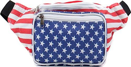 SoJourner Bags Gürteltasche Einheitsgröße USA-amerikanische Flagge Stars and Stripes (Stars Stripes-flagge And)