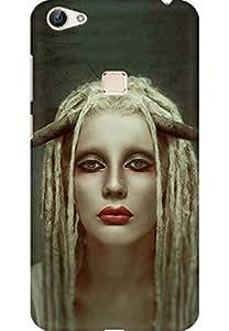 AMEZ designer printed 3d premium high quality back case cover for Vivo X6 (Girl)