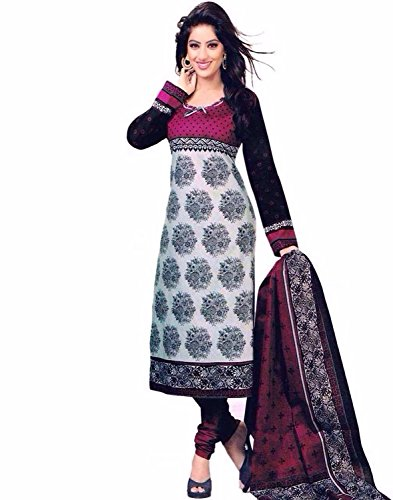 Little Lady women Style Beige printed unstitched regular wear salwar suit dress material (Ragini_Beige)  available at amazon for Rs.199