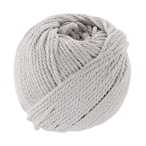 Paracord Planet Natural Colorful Cotton Rope Spools That is Soft to The Touch - 3mm Diameter and 50 Meter Length - Great for DIY Crafting, Handmade Macramé, Bundling, and More -