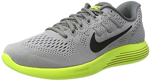 Nike Lunarglide 8, Chaussures de Course Homme Gris (Wolf Grey/anthracite/volt/cool Grey/pure)