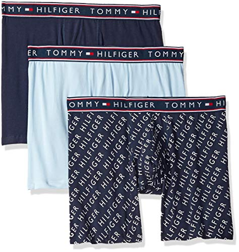 Tommy Hilfiger Herren Cotton Stretch Boxer Brief Slip, Midnight Blue, X-Large (Cotton Tommy Spandex Hilfiger)