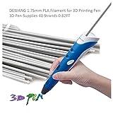DEWANG 3D-Drucker Filament-40 Str?nge 1.75mm PLA Kunststoff f¨¹r 3D Drucker Zeichnung,Grau