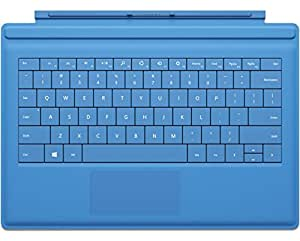 Microsoft Surface Type Cover 2 QWERTY Keyboard With Illuminated Keys for Microsoft Surface, Surface 2, Surface Pro, Surface Pro 2 - Cyan Blue (UK Layout)