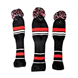 Amazmall Golf Club Wool Knitted Headcover Fairway Wood Covers Golf 1 Set