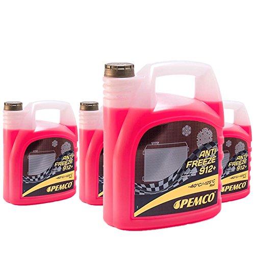 4 x 5L PEMCO Antifreeze 912+ (-40) / Kühlerfrostschutz Fertiggemisch G12+ Rot