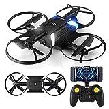 HELIFAR H816 RC Drone à distance Quadcopter télécommande à 6 axes Gyro WIFI caméra 720P Drone Pliable télécommande hélicoptère pour les Enfants &Adultes &Débutants-Mode sans tête / 3D flip / One Key Return (2 batteries)
