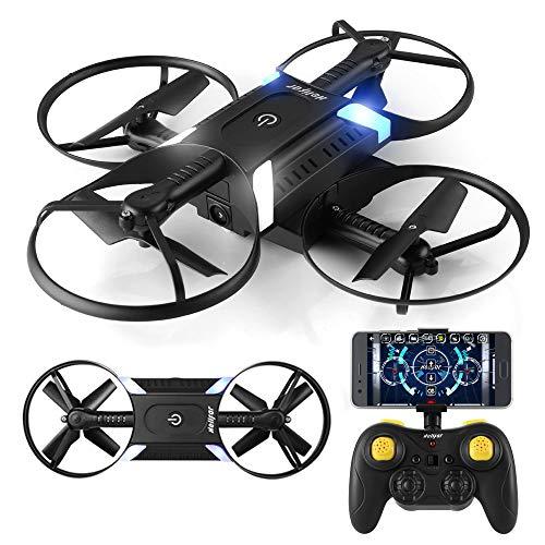 HELIFAR H816 RC Drone Remote 4-Axis Quadcopter con cámara WiFi 720P Drone Plegable con 2 baterías (Dual Lever Remote Control)