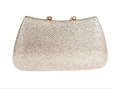 Erosebridal Strass Abend Party Kupplung Paillette Handtasche Geldbörse Hochzeit Tasche zum Damen Champagner