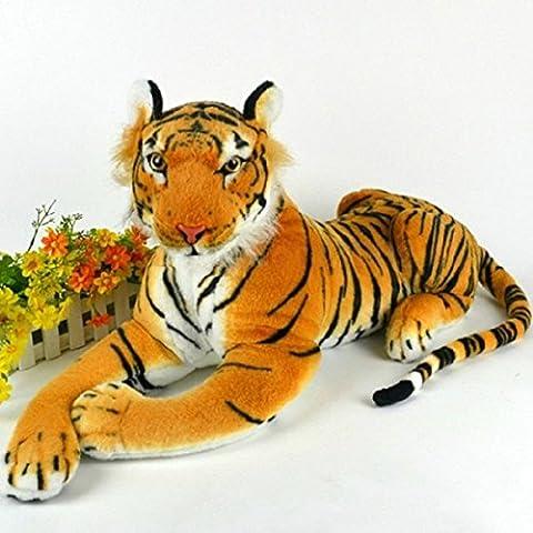 Meijunter Peluche grande artificial gigante Tigre suave suave del juguete de la felpa de 30 cm de color amarillo