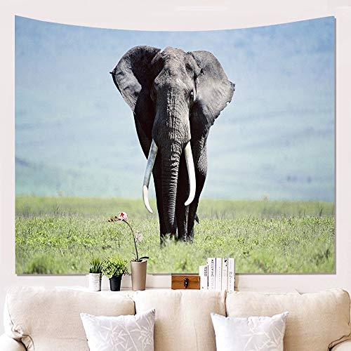 mmzki Startseite 3D Elefant Wandtuch Hängende Malerei Tapisserie Wanddekoration Decke W180813-G005 150 * 230cm