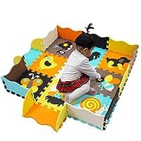 meiqicool Foam Play Mat Children Kids Baby Soft EVA Foam Activity Animal Play Mat Playroom Floor Tiles Pop-out Jigsaw Puzzle Mat Interlocking EVA Foam Mats   Puzzle Playmat   Play Rug 9pcs 010B