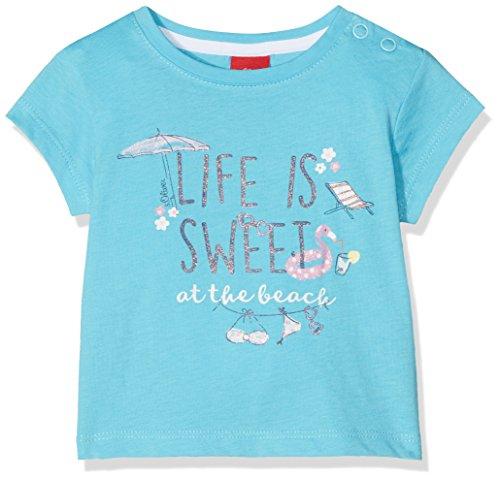 s.Oliver Baby-Mädchen T-Shirt 65.805.32.5100, Blau (Blue 6241), 74