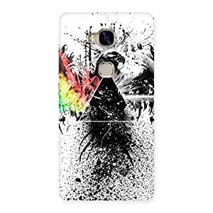 Impressive Prism Eagle Multicolor Back Case Cover for Huawei Honor 5X