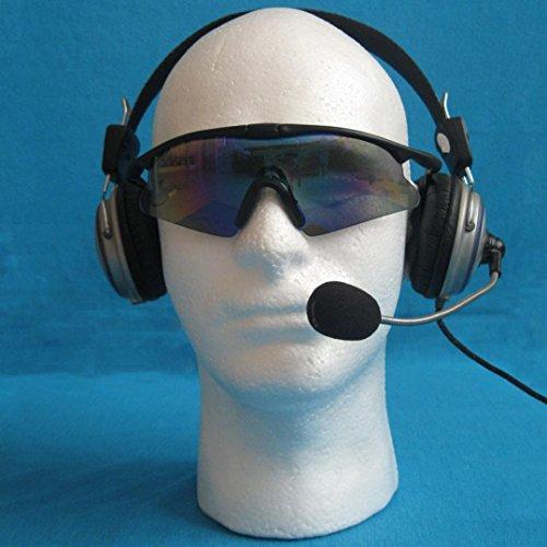 Rcool Barato Espuma de espuma de poliestireno Maniquí de espuma modelo de cabeza maniquí peluca gafas Hat Display Stand (hombre (30cm X 54cm))