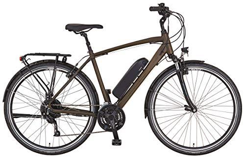 "Prophete ENTDECKER e9.6 Trekking E-Bike 28\"" Herren Elektrofahrrad dunkelbraun matt RH 52 cm"