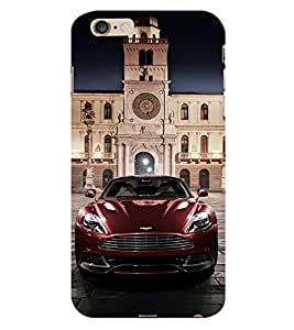 Vizagbeats Maroon Car Aston Back Case Cover for Apple Iphone 6S