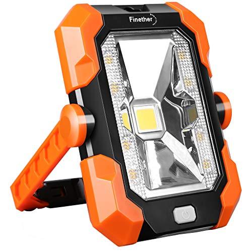 Finether Luz Trabajo Foco LED Recargable Solar USB