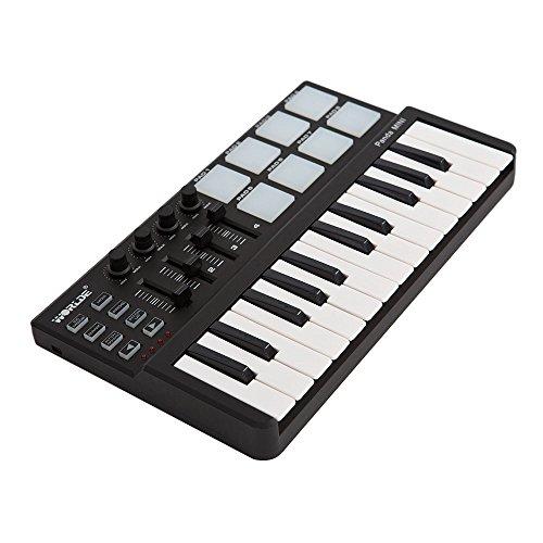 ammoon Ancien Monde Panda Mini Portable Mini 25-Touches USB Clavier et Drum Pad MIDI Contrôleur