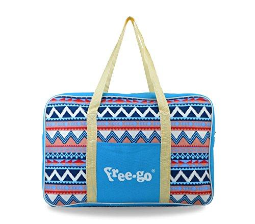 Media wave store 328316 borsa termica free-go fantasia etnica doppio manico (celeste e blu)