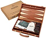 Set de backgammon - 15 pouces - Acajou de luxe - Jaques of London