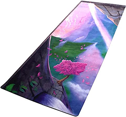 Plyopic All-In-One Yoga Mat | Luxury Studio Mat/Towel Combo. Non