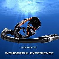 GRH Silicone Adult Natación Buceo Máscara Set Anti-Niebla Professional Watersports Equipos para Snorkeling Caza submarina