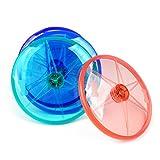 GZQ Frisbee für Hunde-Spielzeug für Haustiere, interaktiv Spielen Flying Disc mit LED-Taschenlampe, Fitness-Spielzeug