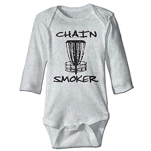 Unisex Newborn Bodysuits Chain Smoker Baby Babysuit Long Sleeve Jumpsuit Sunsuit Outfit Ash