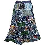 Boho Chic Designs - Falda - trapecio - para mujer Multicolor
