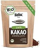 Bio Kakao Pulver (1000g) - 100% reines Kakaopulver stark entölt (11% Fett) - ohne Zucker - ohne Zusatzstoffe - hochwertigste Biotiva Qualität - Abgefüllt und kontrolliert in Deutschland (DE-ÖKO-005)