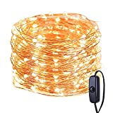 LE String Lights 20M, Fairy Lights Plug in, 200 LED, IP65 Waterproof Copper Wire, Mains Powered Christmas Lights for Indoor, Outdoor, Bedroom, Wedding, Garden, Gazebo and More